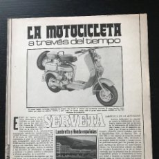Voitures et Motocyclettes: LAMBRETTA SERVETA HONDA 125 150 200 JET - EL MOTOCICLETA A TRAVES DEL TIEMPO FASCICULO COLECCIONABLE. Lote 193780772