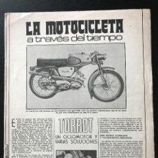Carros e motociclos: TORROT CONVERT MINI MAXI TIBURON GL - LA MOTOCICLETA A TRAVES DEL TIEMPO FASCICULO COLECCIONABLE. Lote 193780898