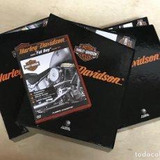 Coches y Motocicletas: LOTE 88 FASCICULOS Nº 1 AL 88 HARLEY DAVIDSON - DVD 3 ARCHIVADORES CARPETAS PLANETA AGOSTINI MOTO. Lote 193832326