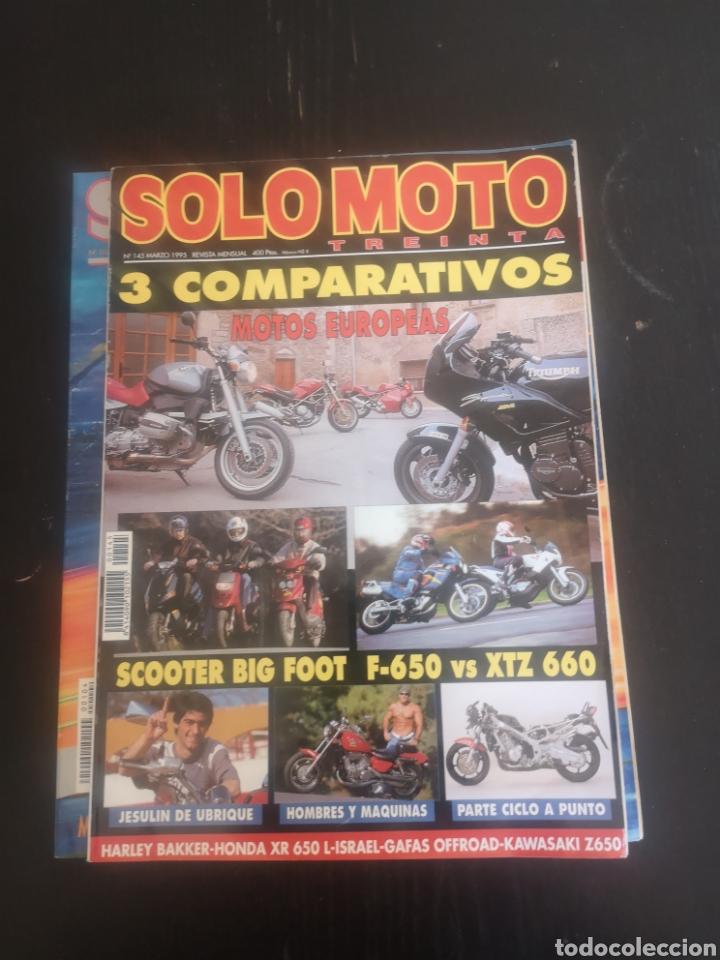 Coches y Motocicletas: LOTE DE CINCO REVISTAS SOLO MOTO DE LOS AÑOS 90 - Foto 6 - 194206192