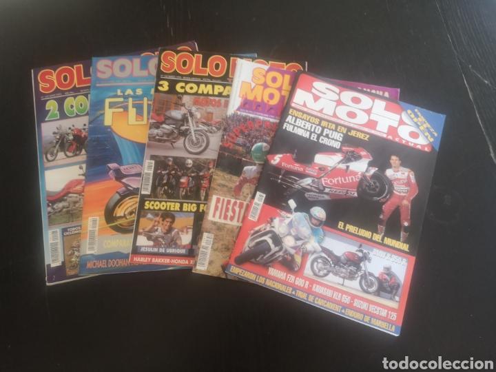 LOTE DE CINCO REVISTAS SOLO MOTO DE LOS AÑOS 90 (Coches y Motocicletas - Revistas de Motos y Motocicletas)
