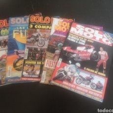 Coches y Motocicletas: LOTE DE CINCO REVISTAS SOLO MOTO DE LOS AÑOS 90. Lote 194206192