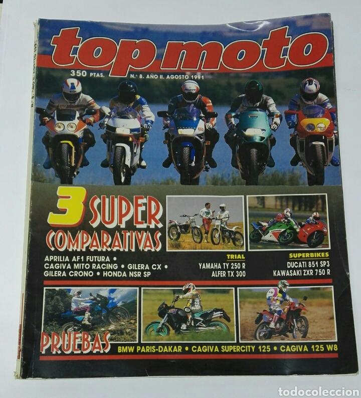 REVISTA TOP MOTO 1991 N° 8 APRILIA AF1 GILERA CRONO (Coches y Motocicletas - Revistas de Motos y Motocicletas)