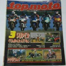 Coches y Motocicletas: REVISTA TOP MOTO 1991 N° 8 APRILIA AF1 GILERA CRONO. Lote 194251921