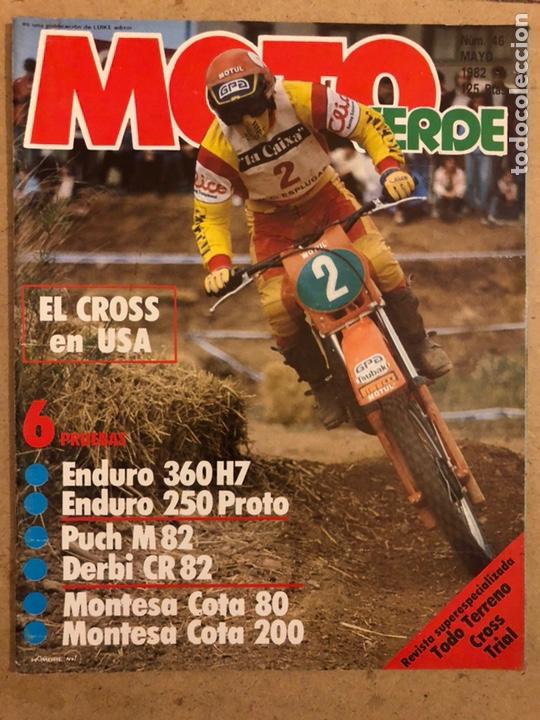MOTO VERDE N° 46 (MAYO 1982). ENDURO 360 H7 Y 250 PROTO, PUCH M82, DERBI CR 82, MONTESA COTA 80 Y (Coches y Motocicletas - Revistas de Motos y Motocicletas)