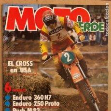Coches y Motocicletas: MOTO VERDE N° 46 (MAYO 1982). ENDURO 360 H7 Y 250 PROTO, PUCH M82, DERBI CR 82, MONTESA COTA 80 Y. Lote 194304596