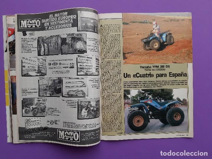 Coches y Motocicletas: MOTOCICLISMO Nº 979 AÑO 1986 VOLTA CATALUÑA CROSS 125 IBI YAMAHA YFM 200 DX CUATRI PARA ESPAÑA - Foto 5 - 194355197