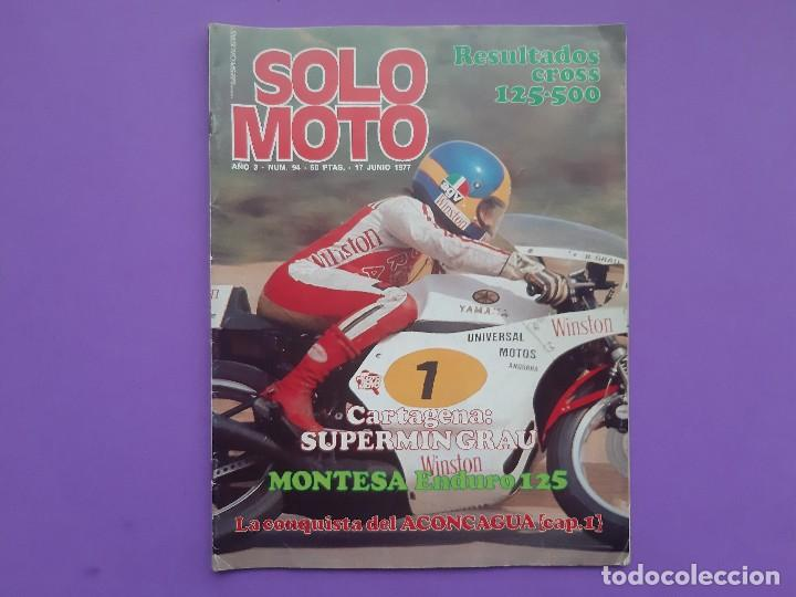 SOLO MOTO Nº94 AÑO 1977 FESTIVAL BULTACO EN ESPLUGAS POSTER CENTRAL CHARLES COUTARD (Coches y Motocicletas - Revistas de Motos y Motocicletas)