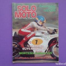 Coches y Motocicletas: SOLO MOTO Nº94 AÑO 1977 FESTIVAL BULTACO EN ESPLUGAS POSTER CENTRAL CHARLES COUTARD . Lote 194531027