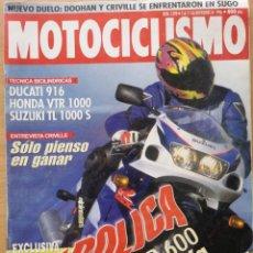 Coches y Motocicletas: MOTOCICLISMO Nº 1498 1996 DUCATI 916, HONDA VTR 1000, SUZUKI TL 1000 S ,SUZUKI GSX R 600. Lote 194586248