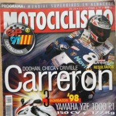 Coches y Motocicletas: MOTOCICLISMO Nº 1543 1997 - YAMAHA YZF 1000 R1 / SUZUKI TL 1000 R / GP CATALUÑA / SUPERBIKES. Lote 194586526