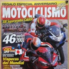 Coches y Motocicletas: MOTOCICLISMO Nº 1727 2001 - CALAFAT / BMW R 1150 RT / SUZUKI GSX R 1000 / YAMAHA YZF R1. Lote 194586576