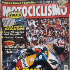 Coches y Motocicletas: MOTOCICLISMO Nº 1575 1998. NORTON NEMESIS V8 / HONDA F6 C / YAMAHA MAJESTY YP 125. CON PÓSTER. Lote 194586965