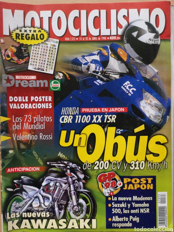 REVISTA MOTOCICLISMO Nº 1573 1998. HONDA CBR 1100 DE TECHNICAL SPORTS. HONDA XR 400R. CON PÓSTER (Coches y Motocicletas - Revistas de Motos y Motocicletas)