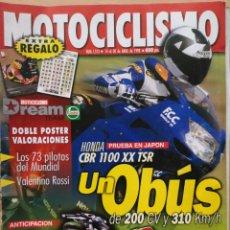 Coches y Motocicletas: REVISTA MOTOCICLISMO Nº 1573 1998. HONDA CBR 1100 DE TECHNICAL SPORTS. HONDA XR 400R. CON PÓSTER. Lote 194587122