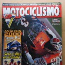 Coches y Motocicletas: MOTOCICLISMO Nº 1651 1999 YAMAHA R1 / HONDA CB 600 HORNET / KTM 400 EXC / GPAFRICA DEL SUR. Lote 194588643