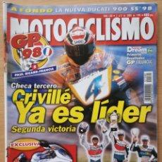 Coches y Motocicletas: MOTOCICLISMO Nº 1580 1998. DUCATI 900 SS / BMW R 850 RT POLICIA / DERBI PREDATOR LC / GP. Lote 194588757