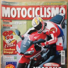 Coches y Motocicletas: MOTOCICLISMO Nº 1603 1998. TRIUMPH SPEED TRIPLE / KAWASAKI W650 / YAMAHA R6 / MONTMELO. Lote 194588803