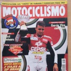 Coches y Motocicletas: REVISTA MOTOCICLISMO Nº 1480 1996. GUZZI V10 CENTAURO. GAMA CROSS KAWASAKI Y YAMAHA. Lote 194588871