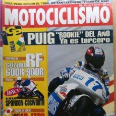 Coches y Motocicletas: MOTOCICLISMO Nº 1376 1994, COMPARATIVA SUZUKI RF 600 R 900 R, YAMAHA XJR 1200,PRUEBA APRILIA SCARA B. Lote 194589007