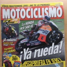 Coches y Motocicletas: MOTOCICLISMO Nº 1730 2001. TRIUMPH BONNEVILLE 800 / KAWASAKI W 650 / GP JAPON / SUPERCROSS. Lote 194589065