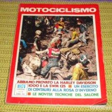 Coches y Motocicletas: MOTOCICLISMO (ITALIANO) GENNAIO 1974 Nº 1. Lote 194622555