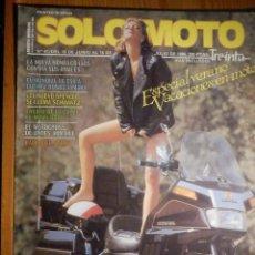 Coches y Motocicletas: SOLO MOTO TREINTA - Nº 41 - JUNIO-JULIO 1986. Lote 194645580