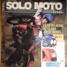 Coches y Motocicletas: SOLO MOTO TREINTA - Nº 43- AGOSTO-SEPTIENBRE 1986 - YAMAHA SRX-600, DUCATI F-1, SUZUKI GSX-R. Lote 194645663