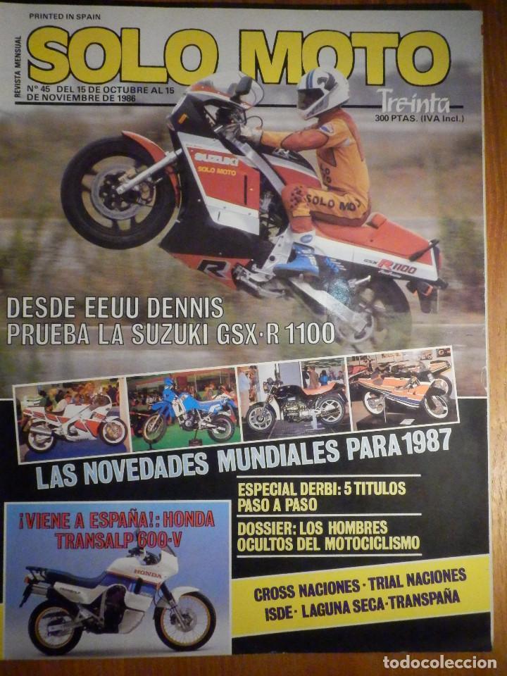 SOLO MOTO TREINTA - Nº 45 - OCTUBRE-NOVIEMBRE 1986 - SUZUKI GSX-R 1100 AUTODROMO TERRAMAR /TRANSPAÑA (Coches y Motocicletas - Revistas de Motos y Motocicletas)