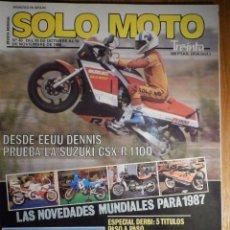 Coches y Motocicletas: SOLO MOTO TREINTA - Nº 45 - OCTUBRE-NOVIEMBRE 1986 - SUZUKI GSX-R 1100 AUTODROMO TERRAMAR /TRANSPAÑA. Lote 194645790
