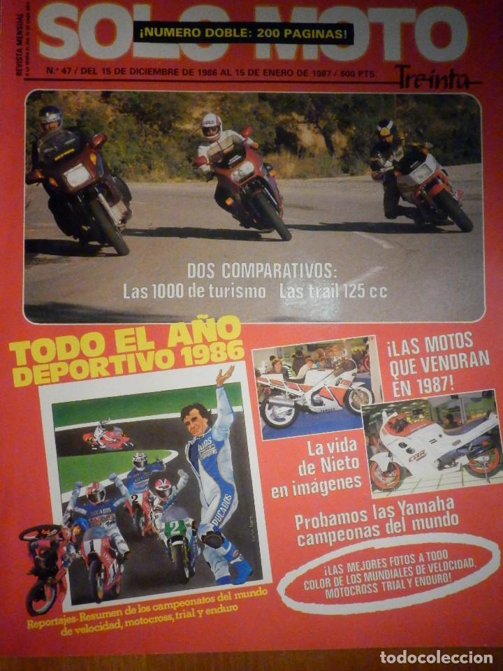 SOLO MOTO TREINTA - Nº 47 - DICIEMBRE-ENERO 1986-1987 -YAMAHA FJ 1200 HONFA VF 1000 F2 BMW K 100 RT (Coches y Motocicletas - Revistas de Motos y Motocicletas)