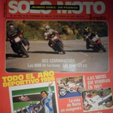 Coches y Motocicletas: SOLO MOTO TREINTA - Nº 47 - DICIEMBRE-ENERO 1986-1987 -YAMAHA FJ 1200 HONFA VF 1000 F2 BMW K 100 RT . Lote 194645861