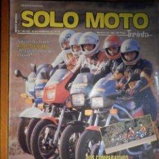 Coches y Motocicletas: SOLO MOTO TREINTA - Nº 48 - FEBRERO-MARZO 1987 - BIMOTA DUCATI DB 1 HONDA CBX 750 F BMW K 75 C SUZUK. Lote 194645963