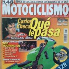 Coches y Motocicletas: REVISTA MOTOCICLISMO Nº 1638 1999. BMW R 850 C. HYOSUNG GRAND PRIX 125. BMW R 1100 RS, KAWASAKI ZX. Lote 194664935