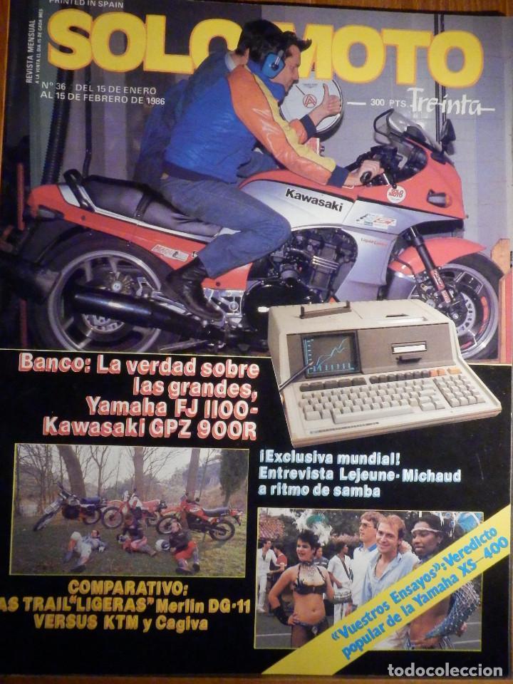 SOLO MOTO TREINTA - Nº 36 ENERO-FEBRERO 1986 - YAMAHA FJ 1100 - MERLIN DG-11 - KTM CAGIVA (Coches y Motocicletas - Revistas de Motos y Motocicletas)