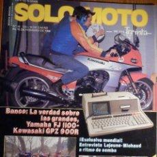 Coches y Motocicletas: SOLO MOTO TREINTA - Nº 36 ENERO-FEBRERO 1986 - YAMAHA FJ 1100 - MERLIN DG-11 - KTM CAGIVA . Lote 194705370