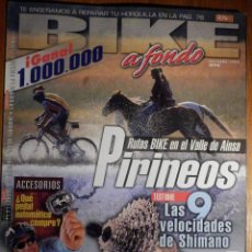 Coches y Motocicletas: REVISTA BIKE A FONDO - Nº 78 - OCTUBRE 1998 - CON POSTER. Lote 194710823