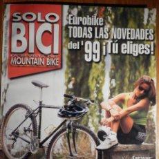 Coches y Motocicletas: SOLO BICI - LA REVISTA DEL MOUNTAIN BIKE - Nº 89 - OCTUBRE 1998 -. Lote 194711110