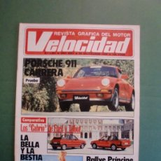 Voitures et Motocyclettes: VELOCIDAD Nº 1201 29/8/1984 PRUEBA PORSCHE 911 CARRERA - CABRIO FORD Y TALBOT - VECTOR W2 TWIN TURBO. Lote 194725407