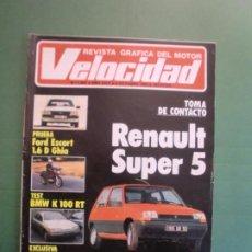 Coches y Motocicletas: VELOCIDAD Nº 1202 6/10/1984 RENAULT SUPER 5 - FORD SCORT GHIA - BMW 100 RT - FORD SCORPIO - SAINZ . Lote 194726138