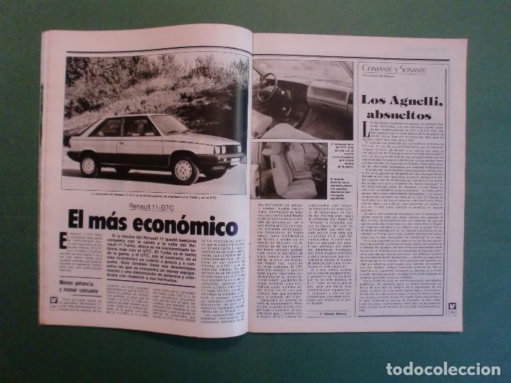 Coches y Motocicletas: VELOCIDAD Nº 1205 2/10/1984 BUGATTI - CITROËN VISA C-15 E Y D - PEUGEOT 205 SR - RENAULT 11 GTC - Foto 3 - 194727463