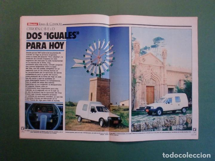 Coches y Motocicletas: VELOCIDAD Nº 1205 2/10/1984 BUGATTI - CITROËN VISA C-15 E Y D - PEUGEOT 205 SR - RENAULT 11 GTC - Foto 5 - 194727463