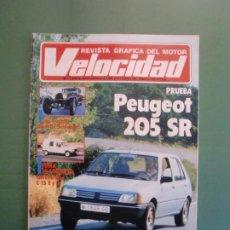 Coches y Motocicletas: VELOCIDAD Nº 1205 2/10/1984 BUGATTI - CITROËN VISA C-15 E Y D - PEUGEOT 205 SR - RENAULT 11 GTC . Lote 194727463