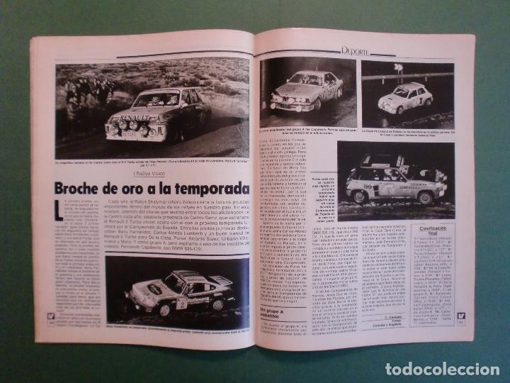 Coches y Motocicletas: VELOCIDAD Nº 1211 8/12/1984 PARIS DAKAR - OPEL KADETT - KAWASAKI GPZ 600 R - MERCEDES W 124 - Foto 11 - 194728098