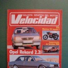 Coches y Motocicletas: VELOCIDAD Nº 1217 19/1/1985 MONTESA 175 IMPALA 2 - OPEL REKORD 2.2I - PEUGEOT 505 GTD - PARIS DAKAR. Lote 194728850