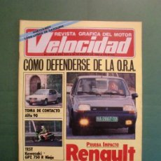 Coches y Motocicletas: VELOCIDAD Nº 1218 26/1/1985 RENAULT SUPER 5 GTS - KARTING MAGALLUF - PARIS DAKAR - KAWASAKI NINJA . Lote 194729471