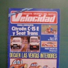 Automobili e Motociclette: VELOCIDAD Nº 1219 2/2/1985 CITROËN C-15 E Y SEAT TRANS - PARIS DAKAR - GUZZI 850 LE MANS IIIE . Lote 194730116