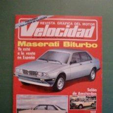 Coches y Motocicletas: VELOCIDAD Nº 1222 23/2/1985 MASERATI BITURBO - RENAULT 11 GTX - HONDA SCOPPY - CITROËN C-15 D. Lote 194748442
