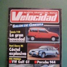 Coches y Motocicletas: VELOCIDAD Nº 1225 16/3/1985 LANCIA Y-10 - PORSCHE 944 - VW GOLF GT - FORD SIERRA RS - SALON GINEBRA . Lote 194748825