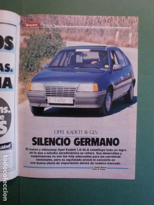 Coches y Motocicletas: VELOCIDAD Nº 1227 30/3/1985 LANCIA Y-1O T - OPEL KADETT 1.6 GLS - VW POLO CLASIC - MERLIN GALLACH - Foto 5 - 194749248